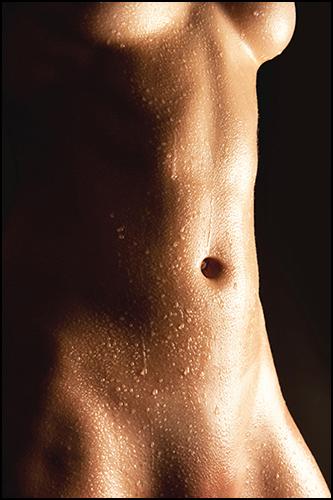 nude wet torso